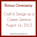 Craft & design as a Career Giveaway