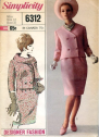 Vintage Simplicity 6312 double breasted jacket and skirt Separates